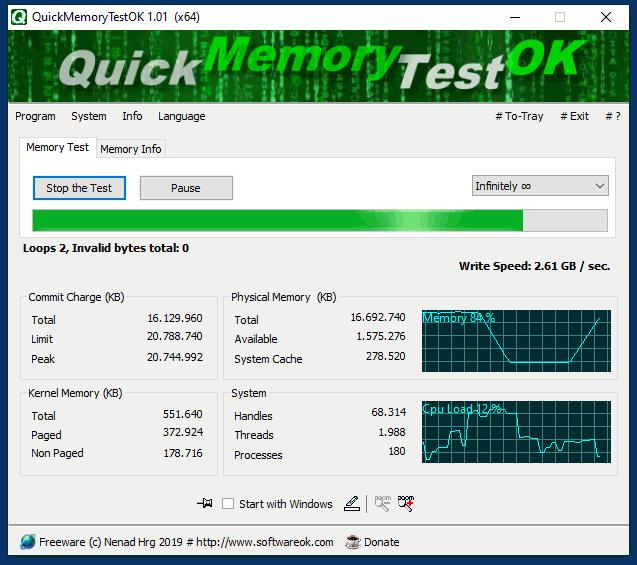 QuickMemoryTestOK