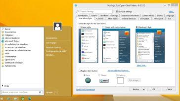 Reemplazar el menú de inicio en Windows 10