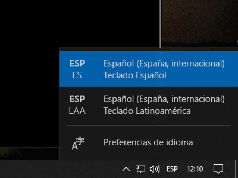 Cómo configurar un teclado en Windows 10