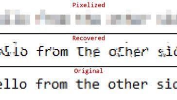 Recuperar contraseña de imágenes pixeladas