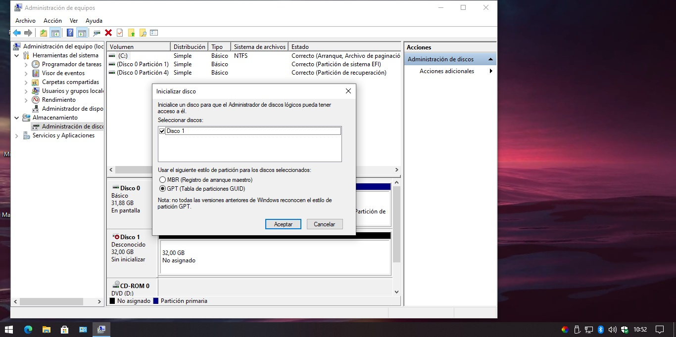 Clonar disco duro Windows 10