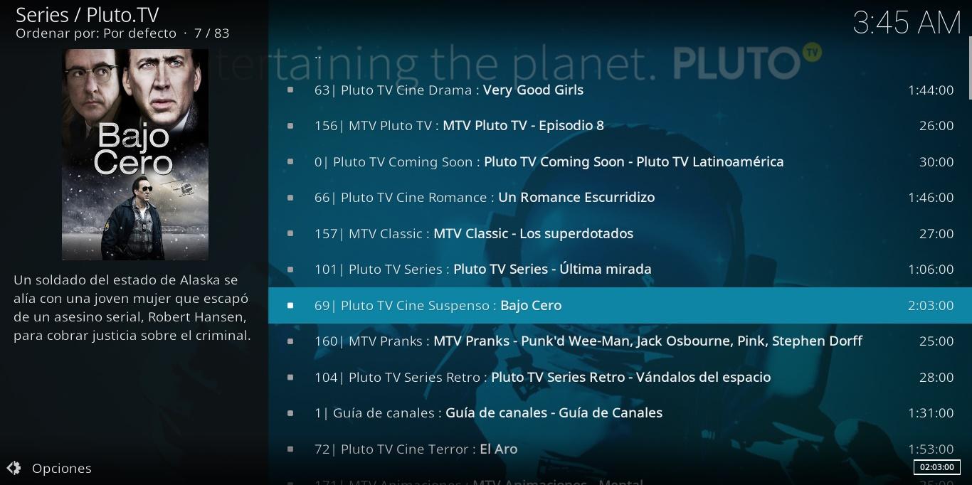 Ver pluto tv en KODI gratis