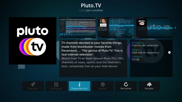 Ver Pluto TV en KODI