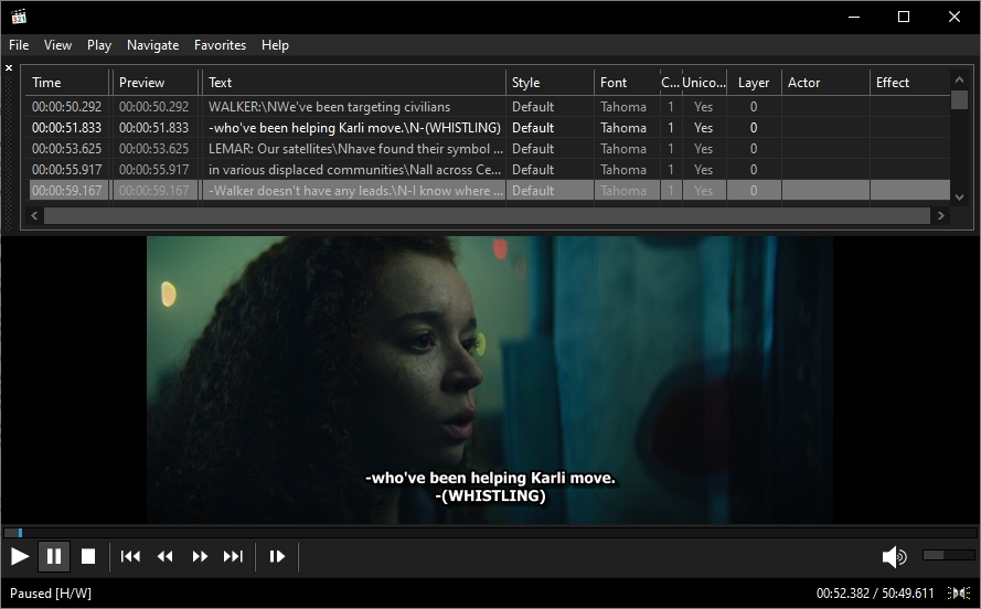 adelantar subtítulos