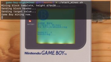 bitcoin game boy