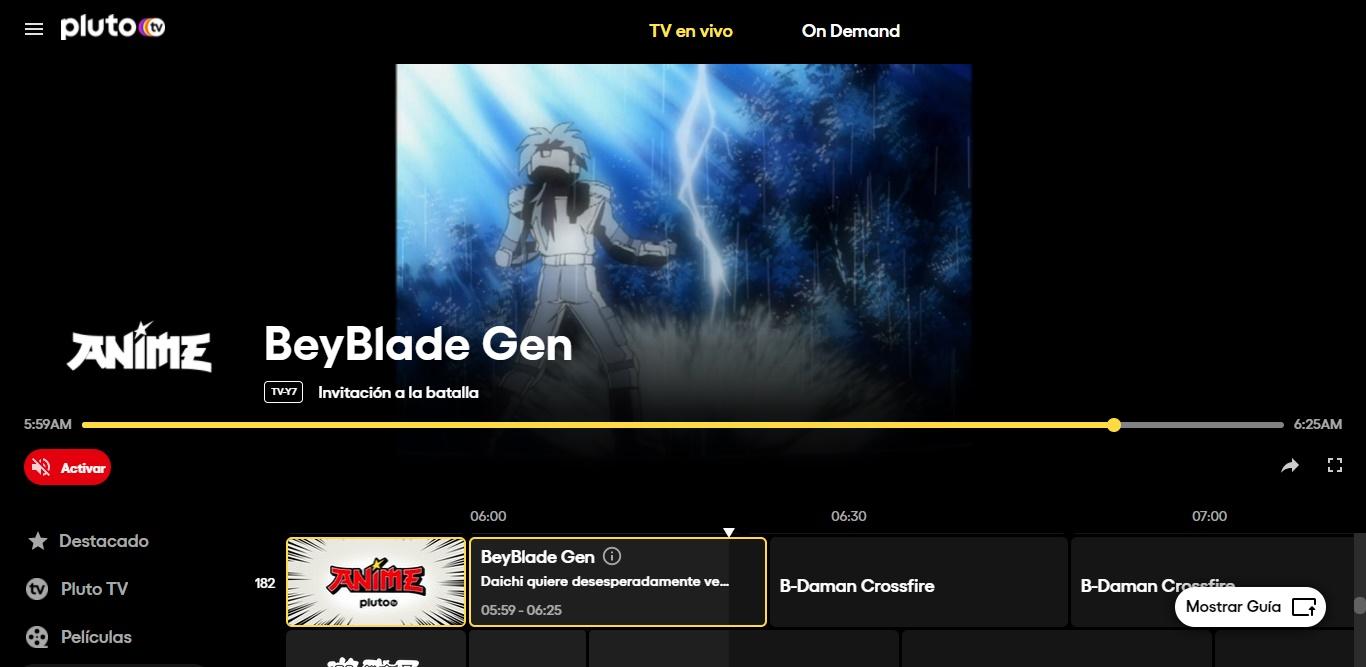 Guía de canales para Pluto.TV