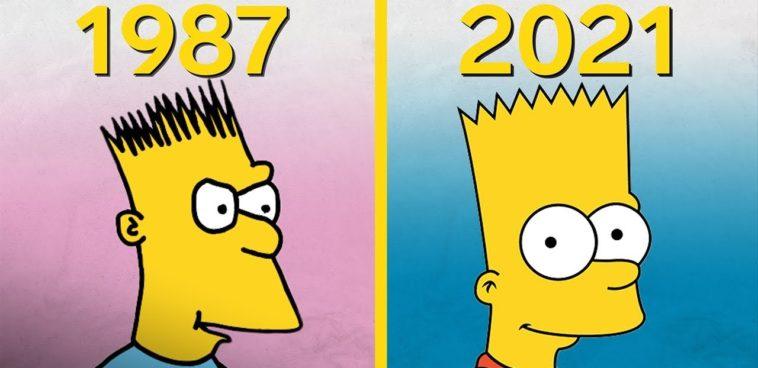 evolución de la animación de Los Simpsons