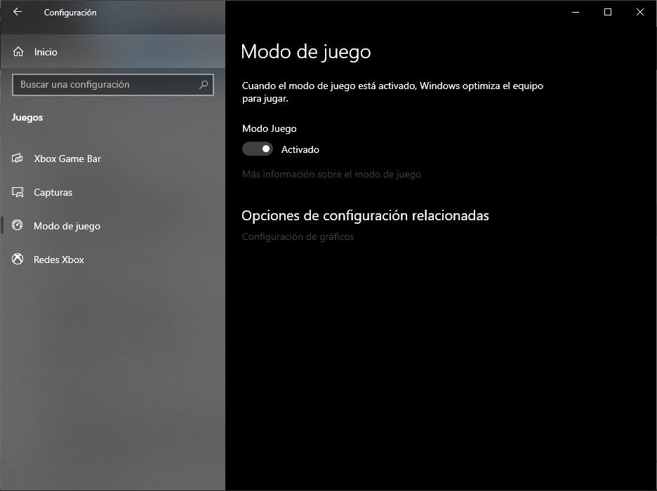 mejorar rendimiento windows 10 gaming