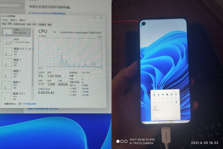Windows 11 en un teléfono Android