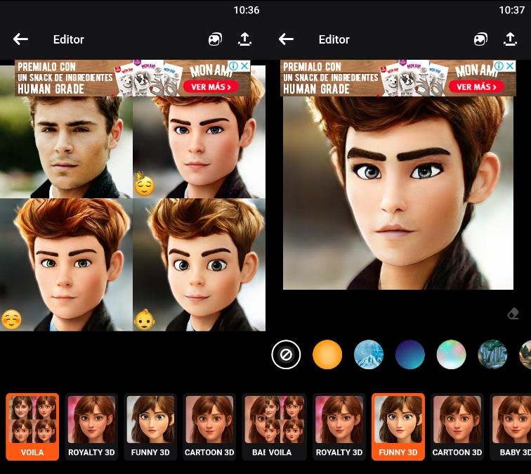 Transforma tus retratos en personajes de Pixar