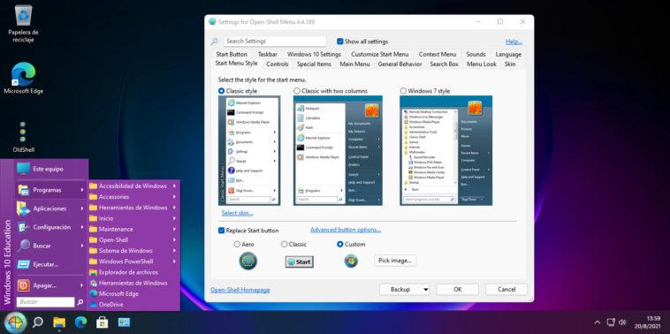 OpenShell para Windows 11