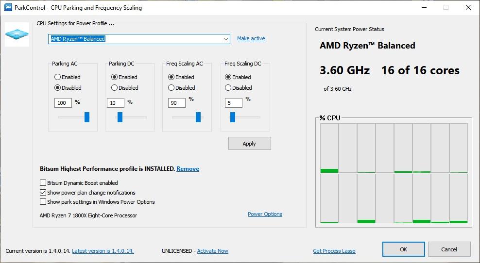 optimizar los núcleos de tu PC