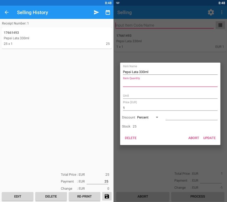 Cajas registradoras virtuales para Android