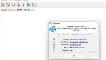 agregar exclusiones en Microsoft Defender