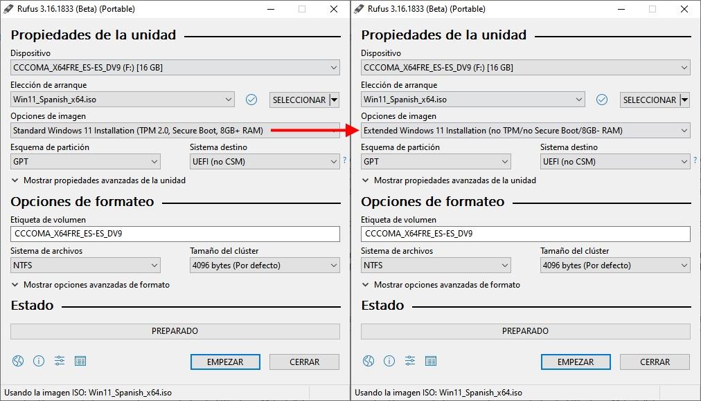 omitir TPM y Secure Boot en Windows 11
