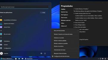 barra de tareas de Windows 10 en Windows 11